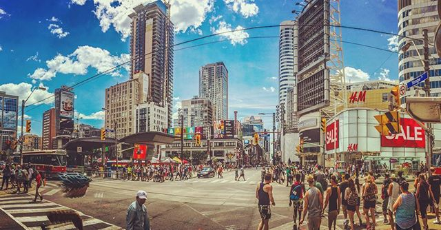 Yonge and Dundas @pridetoronto